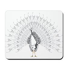 White Peacock Mousepad