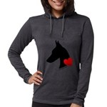 heartsilhouette.png Womens Hooded Shirt