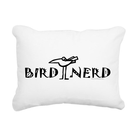 Birdwatching Rectangular Canvas Pillow