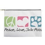 Peace Love Shih Poos Makeup Pouch