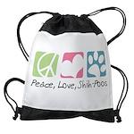 Peace Love Shih Poos Drawstring Bag