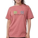 Peace Love Shih Poos Womens Comfort Colors Shirt