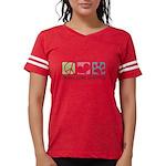 Peace Love Shih Poos Womens Football Shirt