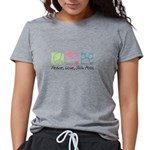Peace Love Shih Poos Womens Tri-blend T-Shirt