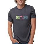 Peace Love Shih Poos Mens Tri-blend T-Shirt