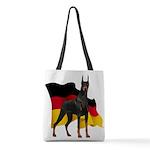 German Flag Doberman Polyester Tote Bag