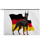 German Flag Doberman Makeup Pouch