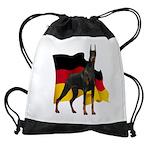 German Flag Doberman Drawstring Bag
