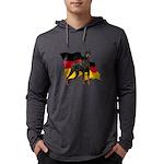 German Flag Doberman Mens Hooded Shirt