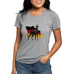 German Flag Doberman Womens Tri-blend T-Shirt