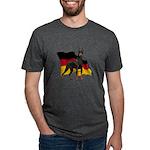 German Flag Doberman Mens Tri-blend T-Shirt