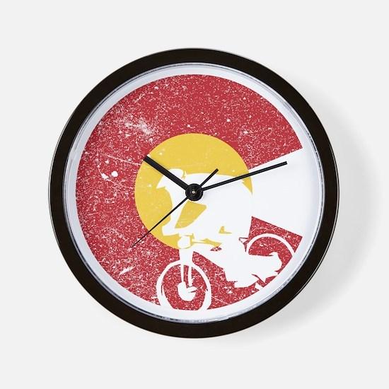 Mountain Bike Colorado Wall Clock