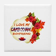 Cambodian Boyfriend designs Tile Coaster
