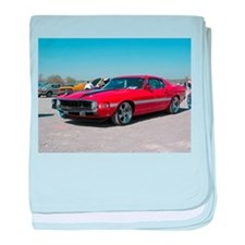 70 Shelby GT baby blanket