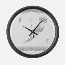 2 in words Large Wall Clock