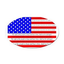 Flag with 2nd Amendment Oval Car Magnet
