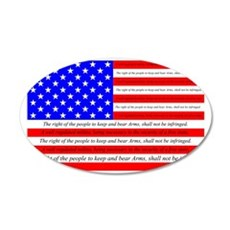 Flag with 2nd Amendment Wall Decal