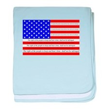 Flag with 2nd Amendment baby blanket