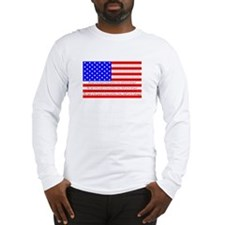 Flag with 2nd Amendment Long Sleeve T-Shirt