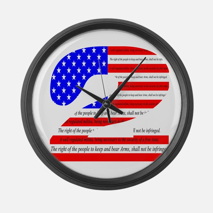 Flag2 Large Wall Clock