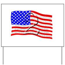 2nd Amendment Flag Yard Sign