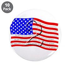 "2nd Amendment Flag 3.5"" Button (10 pack)"