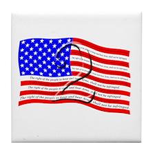 2nd Amendment Flag Tile Coaster