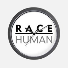 Race Human Wall Clock