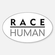 Race Human Oval Decal
