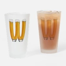 W Beer Drinking Glass