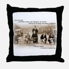 Unique Doberman rescue Throw Pillow