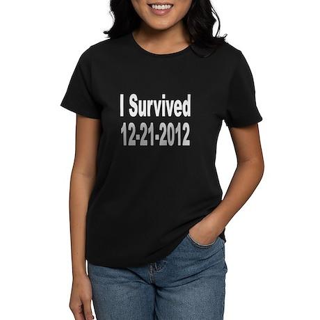 I Survived 12-21-2012 Women's Dark T-Shirt