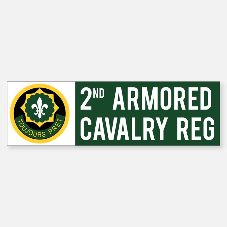 2nd Armored Cavalry Car Car Sticker