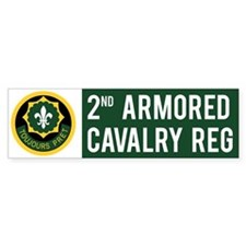 2nd Armored Cavalry Car Sticker