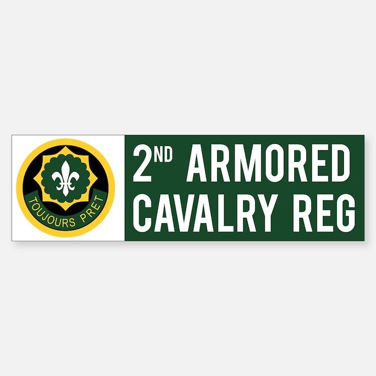 2nd Armored Cavalry Sticker (Bumper)