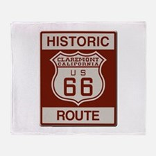 Claremont Route 66 Throw Blanket