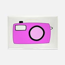 Pink Camera. Rectangle Magnet
