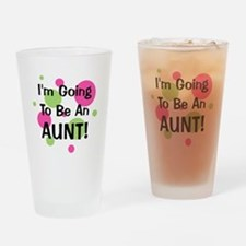 Funny My auntie loves me Drinking Glass