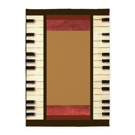 Piano Keys Frame Border by Kristie Hubler 5'x7'Are