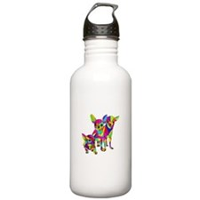 3 Colored Chihuahuas Water Bottle