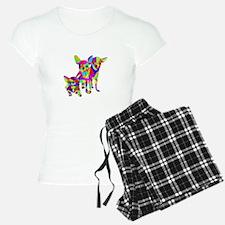 3 Colored Chihuahuas Pajamas