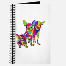 3 Colored Chihuahuas Journal