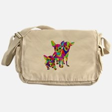 3 Colored Chihuahuas Messenger Bag