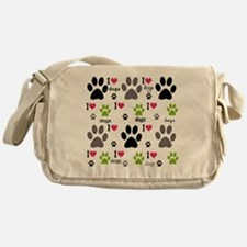 I Love Dogs Messenger Bag