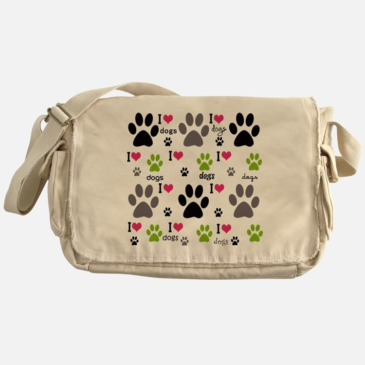 I Love Dogs Messenger Bag