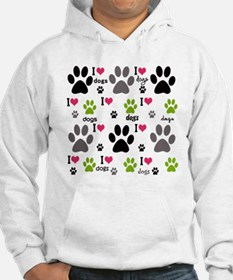 I Love Dogs Jumper Hoody