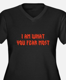 What You Fear Most Women's Plus Size V-Neck Dark T