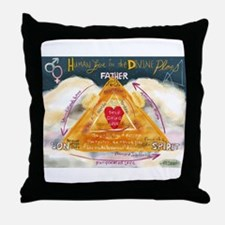 Human Love in the Divine Plan Throw Pillow