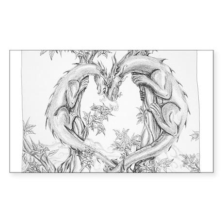 Dragon Heart Sticker (Rectangle)
