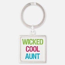 WickedCoolAunt.png Square Keychain